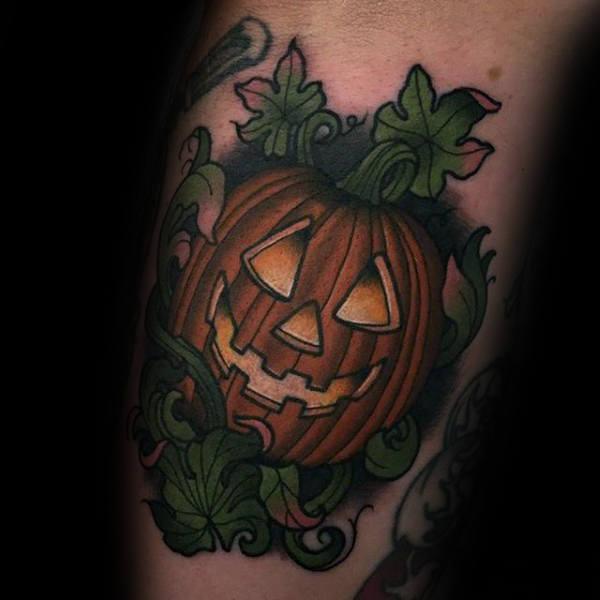 80 Halloween Tattoo Designs für Männer - Ghoulish Grandeur