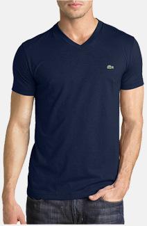 Herren Lacoste T-Shirt mit V-Ausschnitt