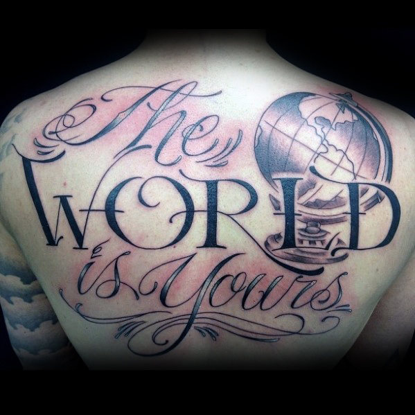 30 Die Welt ist Ihre Tattoo Designs für Männer - Manly Ink Ideen