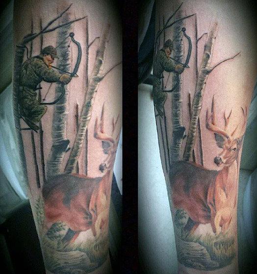 70 Jagd Tattoos für Männer - Fähigkeiten des Krieges in Zeiten des Friedens