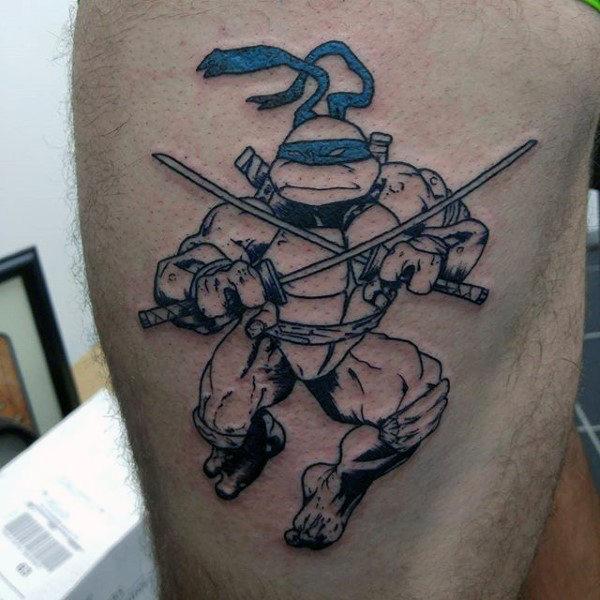 70 Teenage Mutant Ninja Schildkröte Tattoo Designs für Männer - Hero Ink Ideen