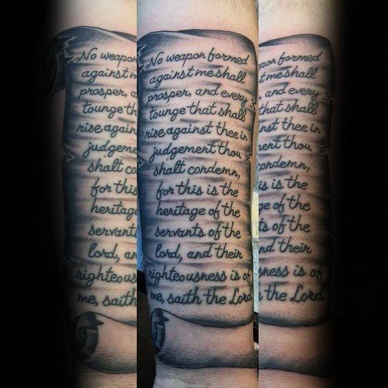 60 Scroll Tattoos für Männer - Manly Papier Design-Ideen