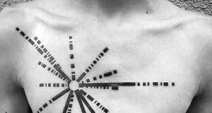 50 Pulsar Karte Tattoo Designs für Männer - Pioneer Plaque Ink Ideen