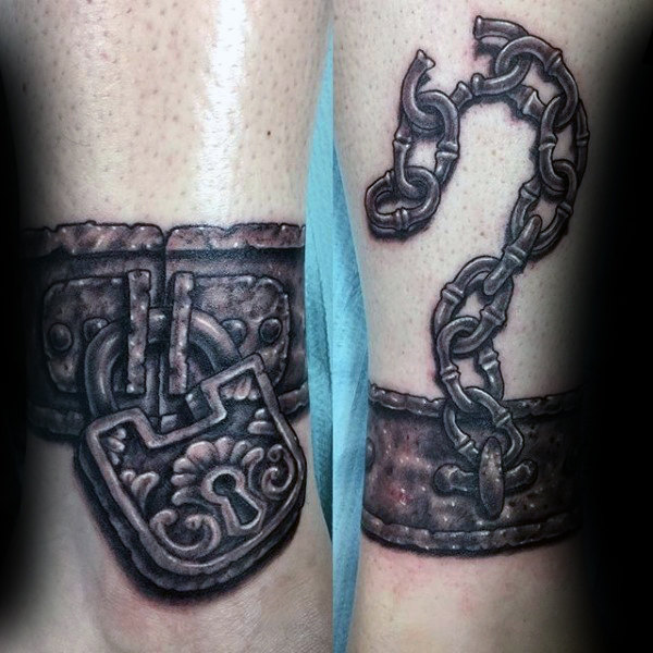 60 Lock Tattoos für Männer - Gehärtete Design-Ideen