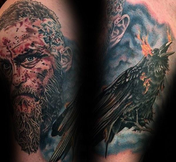 60 Ragnar Lothbrok Tattoo-Designs für Männer - Wikinger-Tinte Ideen