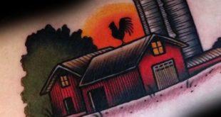 60 Landwirtschaft Tattoos für Männer - Landwirtschaft Design-Ideen