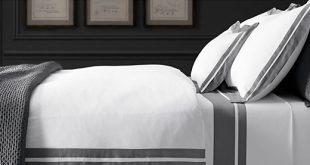 Der Schlafzimmer-Entwurf und Bettwäsche-Führer der Männer