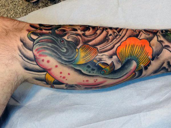 40 Wels Tattoo Designs für Männer - Wasserfarben Ideen