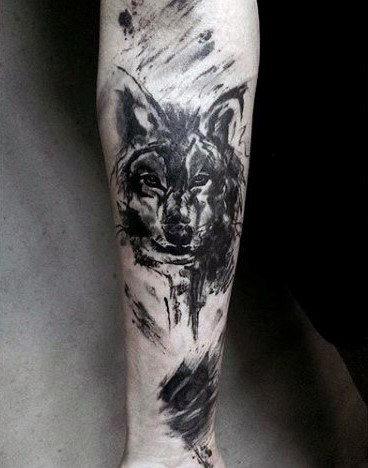 40 Wolf Unterarm Tattoo Designs Fur Manner Mannliche Tinte Ideen