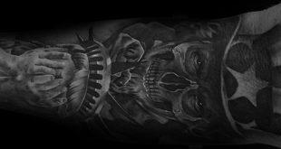 30 Uncle Sam Tattoo Designs für Männer - American Ink Ideen
