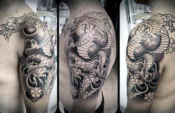 90 japanische Drache Tattoo Designs für Männer - Manly Ink Ideen