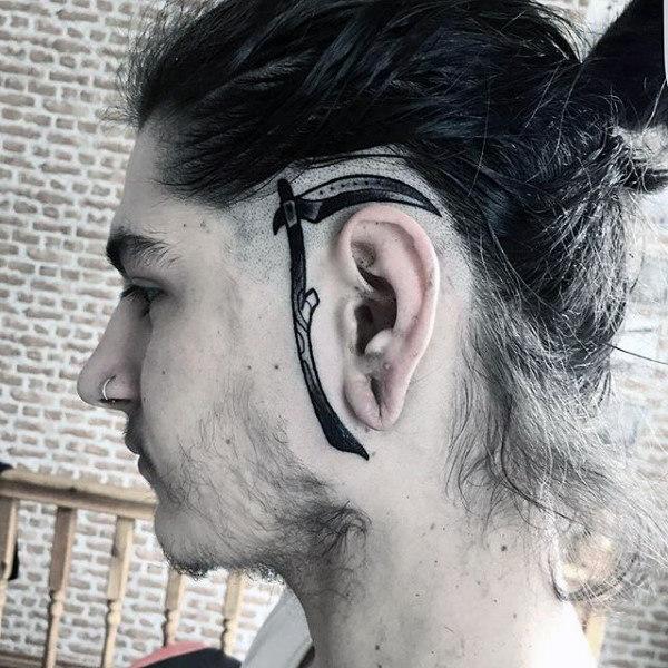 100 Ohr Tattoos für Männer - innere und äußere Design-Ideen