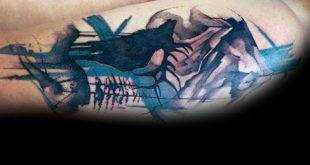 70 Aquarell Baum Tattoo Designs für Männer - Manly Nature Ink Ideen