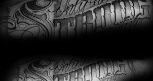 40 nur die starken überleben Tattoos für Männer - Motto Design-Ideen