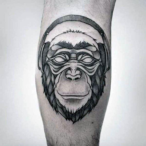 50 Kopfhörer Tattoo Designs für Männer - Musikalische Ideen