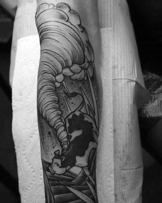 60 Gewitter Tattoo Designs für Männer - Wetter Tinte Ideen