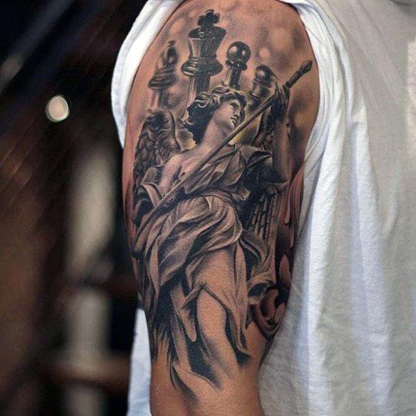 60 König Schachfigur Tattoo-Designs für Männer - leistungsstarke Tinte Ideen