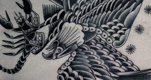 50 Eagle Zurück Tattoo Designs für Männer - Flying Bird Ink Ideen