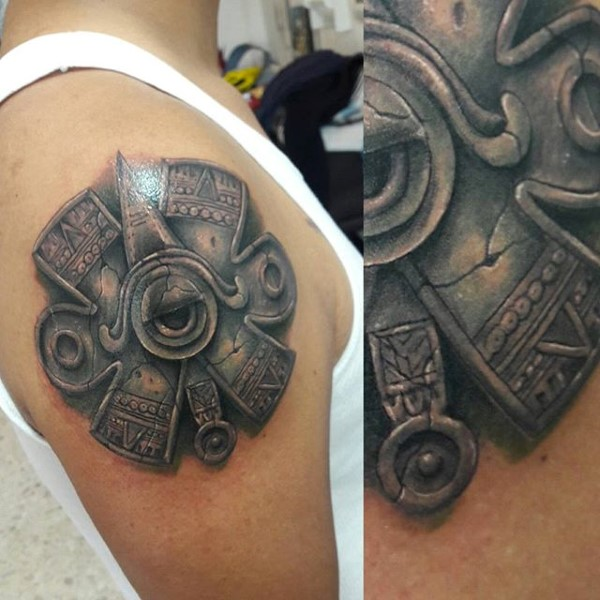 80 Stone Tattoo Designs für Männer - Carved Rock Ink Ideen