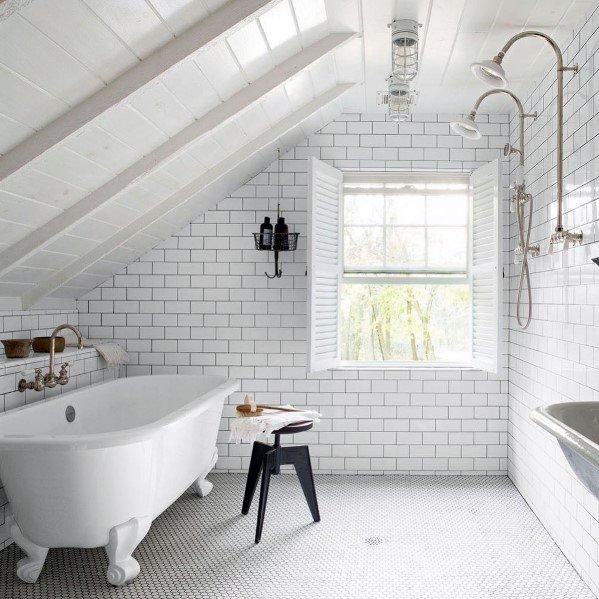 Top 60 besten weißen Badezimmer Ideen - Home Interior Designs