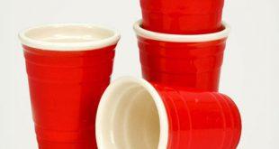 Miniatur Red Cup Schnapsgläser für Pong Spiele