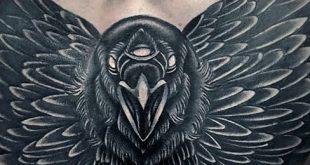 100 Crow Tattoo Designs für Männer - Black Bird Ink Ideen