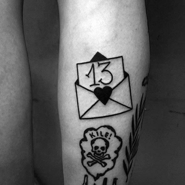 30 Umschlag Tattoo Designs für Männer - Mail Ink Ideen