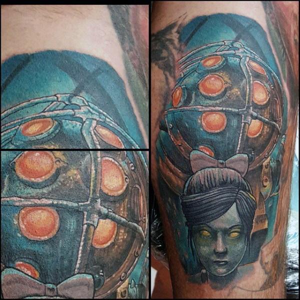 50 Bioshock Tattoo Designs für Männer - Videospiel-Tinten-Ideen
