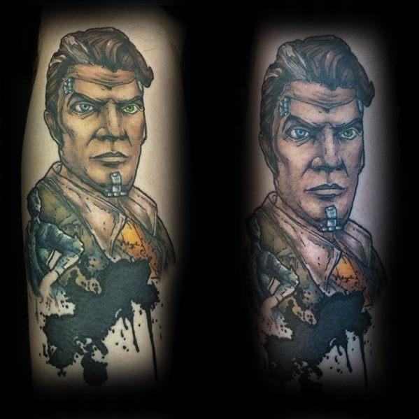 50 Borderlands Tattoo Designs für Männer - Videospiel-Tinten-Ideen