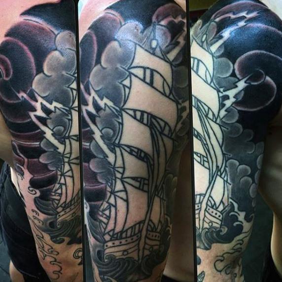 60 Lightning Tattoo Designs für Männer - eine Welle von High Voltage Ideen