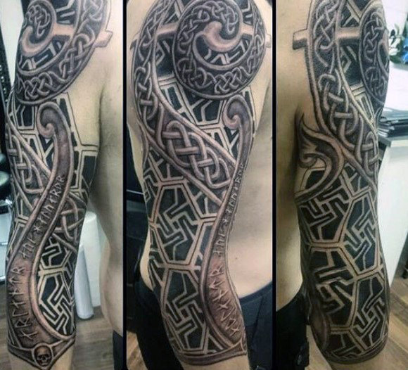 40 Celtic Sleeve Tattoo Designs für Männer - Manly Ink Ideen