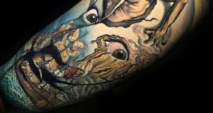 50 Salvador Dali Tattoo Designs für Männer - Künstlerische Tinte Ideen