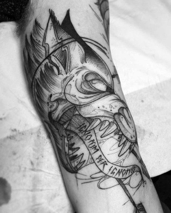 60 Sick Wolf Tattoo Designs für Männer - Manly Ink Ideen