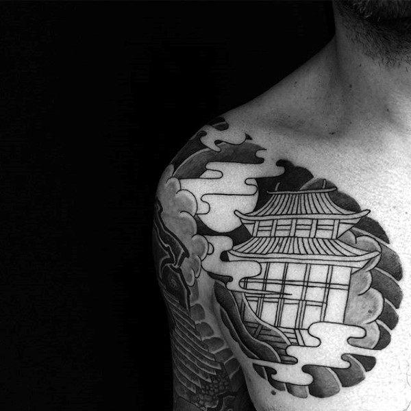 100 buddhistische Tattoos für Männer - Buddhismus Design-Ideen