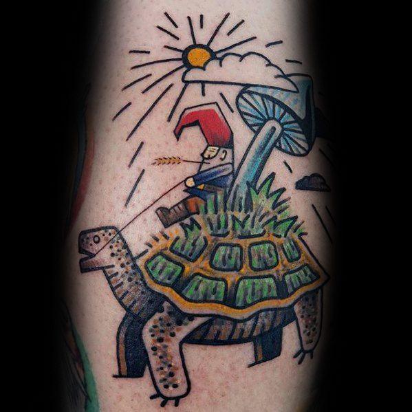 60 Gnome Tattoo Designs für Männer - Folklore-Tinte Ideen