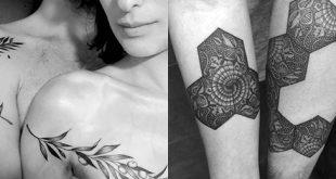 Top 100 besten passenden Paar Tattoos - Connected Design-Ideen