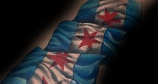 50 Chicago Flag Tattoo-Designs für Männer - Illinois-Tinte Ideen