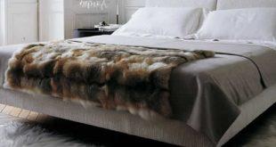 Amber Fox Faux Fur Throw Decke für Inneneinrichtungen