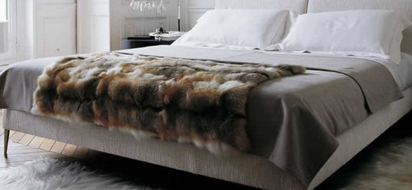 Amber Fox Faux Fur Throw Decke für Inneneinrichtungen