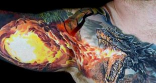 70 Dragon Arm Tattoo Designs für Männer - Fire Atmung Tinte Ideen