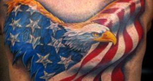 90 patriotische Tattoos für Männer - nationalistische Pride Design-Ideen