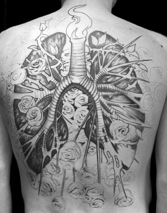 40 Lung Tattoo Designs für Männer - Organ Ink Ideas