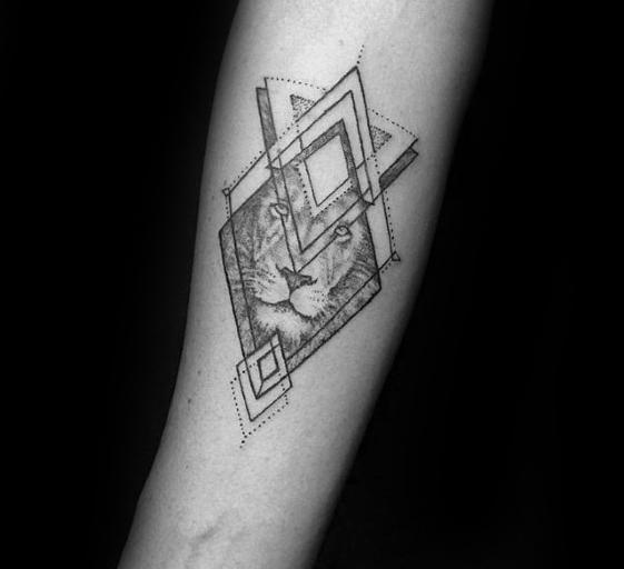 50 kleine geometrische Tattoos für Männer - Manly Form Ink Ideas