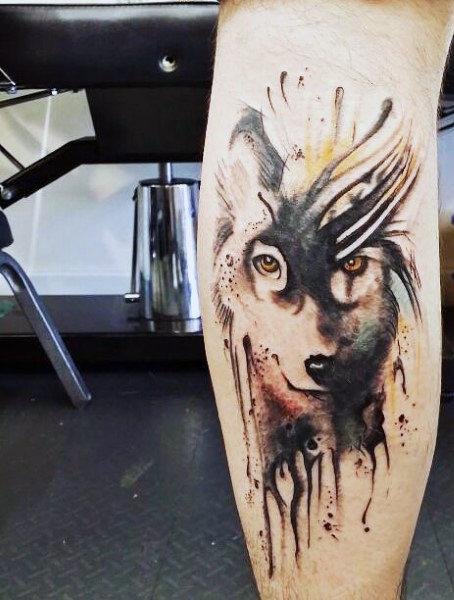 70 Wolf Tattoo Designs für Männer - Maskuline Idee Inspiration