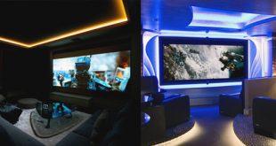 80 Heimkino-Design-Ideen für Männer - Maskulin Movie Room Retreats