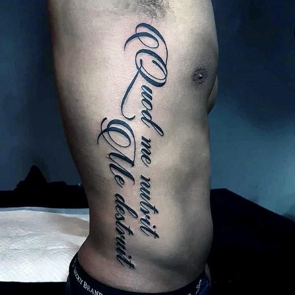 90 Skript Tattoos Für Männer Schreibschrift Ideen Mann Stil Tattoo