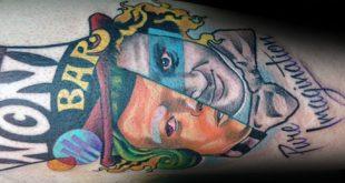 40 Willy Wonka Tattoo Designs für Männer - Schokoladenfabrik Tinte Ideen