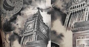 50 Big Ben Tattoo Designs für Männer - Clock Ink Ideen