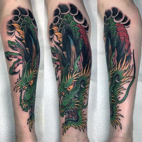 30 Drachen Unterarm Tattoo Designs für Männer - Legendäre Kreatur Tinte Ideen