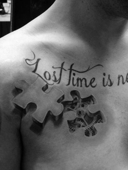 50 einzigartige Brust Tattoos für Männer - maskuline Design-Ideen